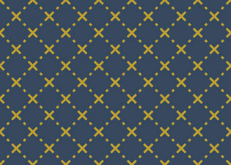 Seamless geometric pattern design illustration. Background texture. In blue and yellow colors.