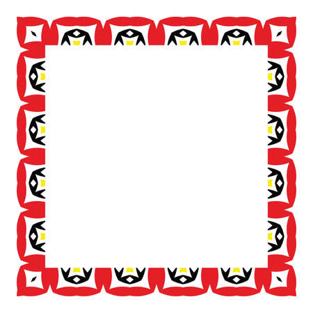 Colored frame, blank background vector design in red, black and yellow colors. Ilustrace