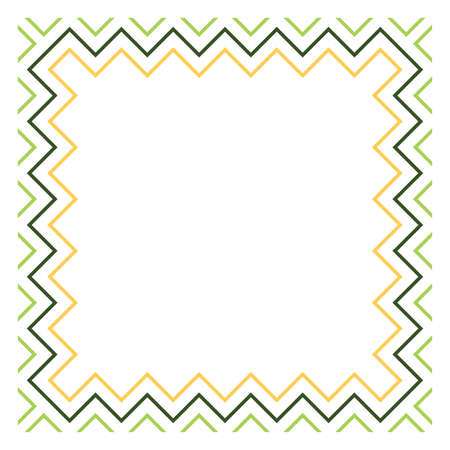 Colored frame, blank background vector design in green and yellow colors.