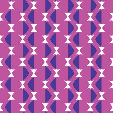 Seamless pattern texture vector background with geometric shapes, colored in violet, purple and white colors.