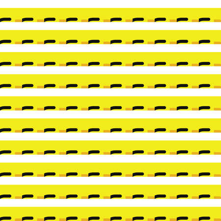 Vector seamless pattern texture background with geometric shapes, colored in yellow, black and white colors.