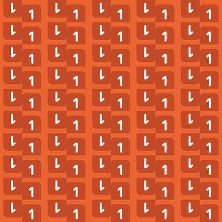 Vector seamless pattern texture background with geometric shapes, colored in orange and white colors.