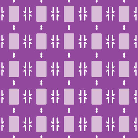 Vector seamless pattern texture background with geometric shapes, colored in purple, violet and white colors.  イラスト・ベクター素材
