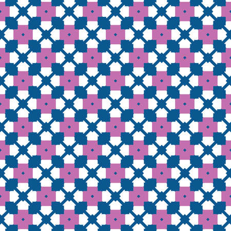 Vector seamless pattern texture background with geometric shapes, colored in blue, violet and white colors.  イラスト・ベクター素材