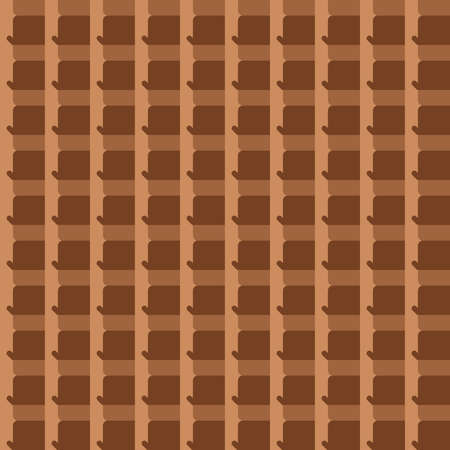 Vector seamless pattern texture background with geometric shapes, colored in brown colors.  イラスト・ベクター素材