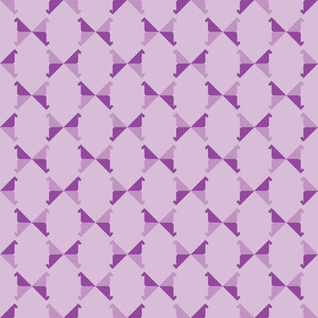 Vector seamless pattern texture background with geometric shapes, colored in violet and purple colors.