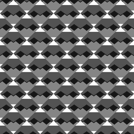 Vector seamless pattern texture background with geometric shapes in black, grey and white colors.