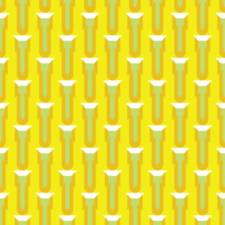 Vector seamless pattern texture background with geometric shapes, colored in yellow, green and white colors.