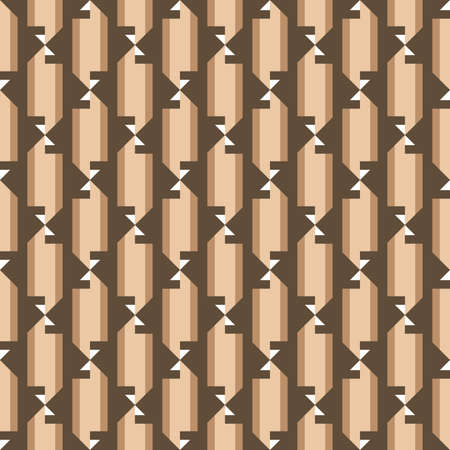 Vector seamless pattern texture background with geometric shapes, colored in brown and white colors.