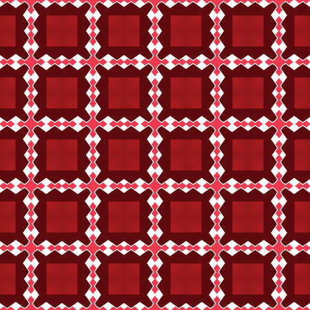 Vector seamless pattern texture background with geometric shapes, colored in red and white colors.