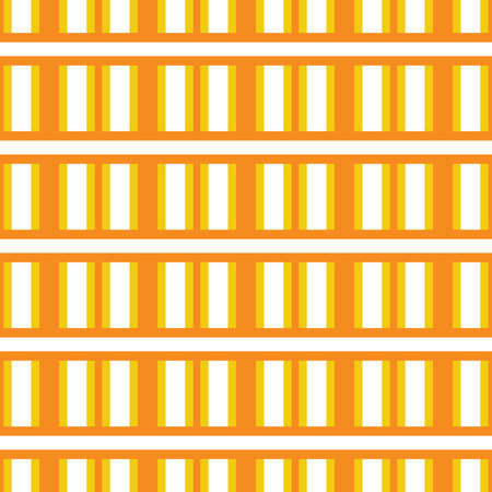 Vector seamless pattern texture background with geometric shapes, colored in yellow, orange and white colors.