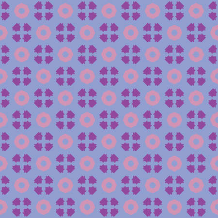 Vector seamless pattern texture background with geometric shapes, colored in pink, blue, violet and purple colors.  イラスト・ベクター素材