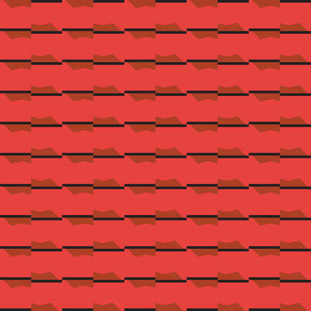 Vector seamless pattern texture background with geometric shapes, colored in red, brown and black colors.