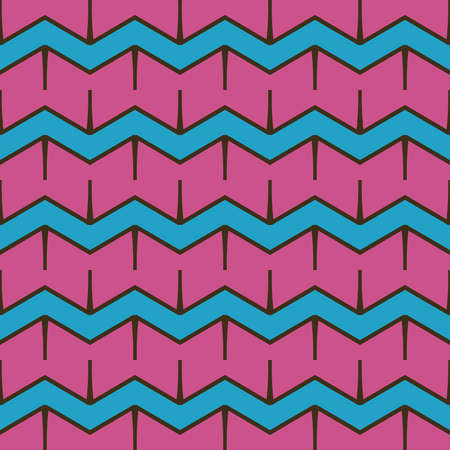 Vector seamless pattern texture background with geometric shapes, colored in violet, blue and brown colors.