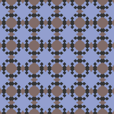 Vector seamless pattern texture background with geometric shapes, colored in blue, grey and black colors. Çizim