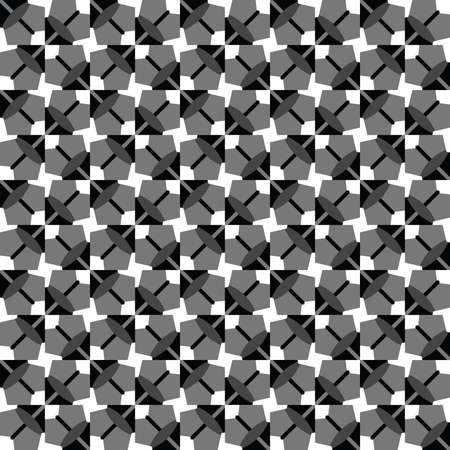 Vector seamless pattern texture background with geometric shapes, colored in grey, white and black colors.