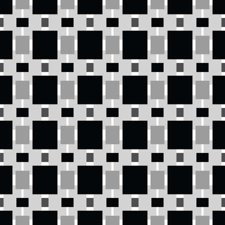 Vector seamless pattern texture background with geometric shapes, colored in black, grey and white colors.