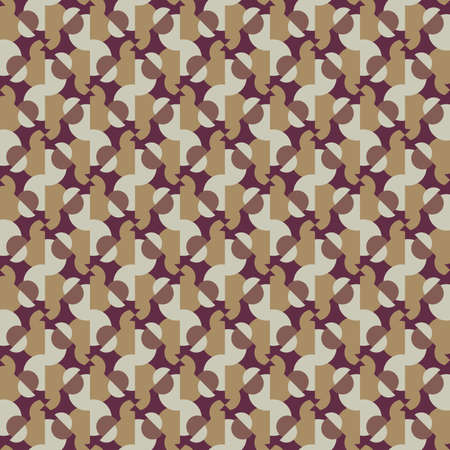 Vector seamless pattern texture background with geometric shapes, colored in brown and red colors.