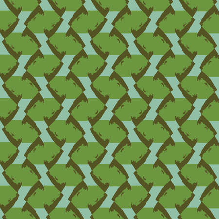 Vector seamless pattern texture background with geometric shapes, colored in green and brown colors.