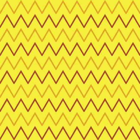 Vector seamless pattern texture background with geometric shapes, colored in yellow and red colors.