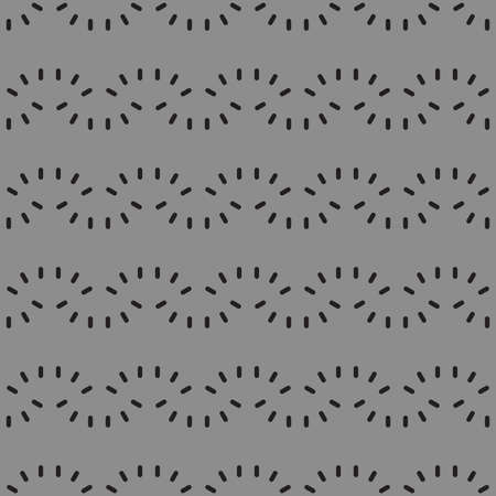 Vector seamless pattern texture background with geometric shapes, colored in grey and black colors.