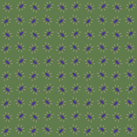 Vector seamless pattern texture background with geometric shapes, colored in green, purple and brown colors.