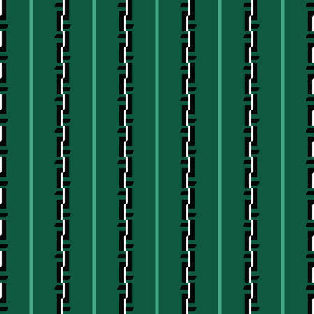 Vector seamless pattern texture background with geometric shapes, colored in green, black and white colors.