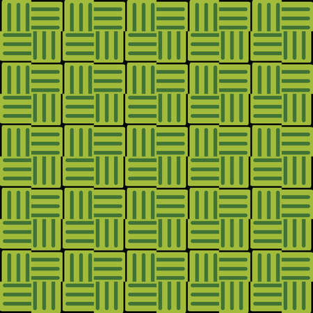 Vector seamless pattern texture background with geometric shapes, colored in green and black colors.