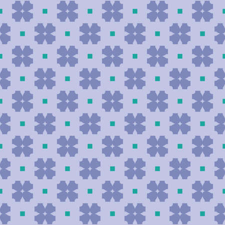 Vector seamless pattern texture background with geometric shapes, colored in blue and green colors. Çizim