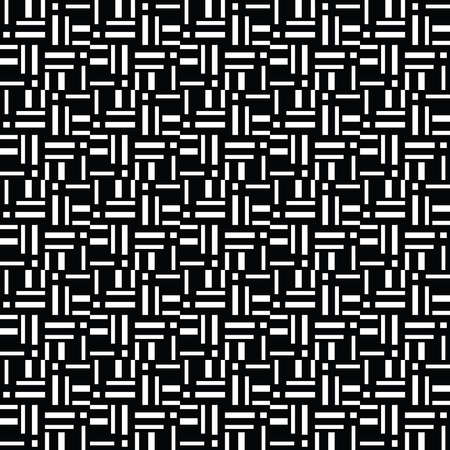 Vector seamless pattern texture background with geometric shapes, colored in black and white colors. Çizim