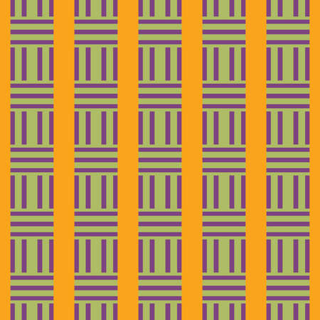 Vector seamless pattern texture background with geometric shapes, colored in yellow, purple and green colors.
