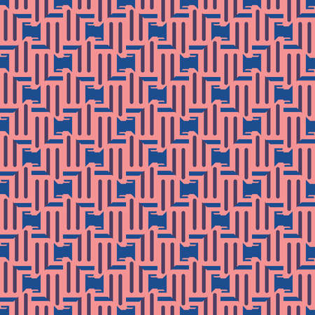Vector seamless pattern texture background with geometric shapes, colored in red, violet purple and blue colors. Çizim