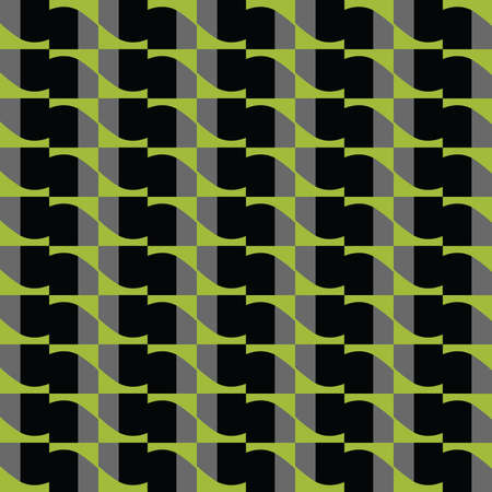 Vector seamless pattern texture background with geometric shapes, colored in green, black and grey colors. Vectores