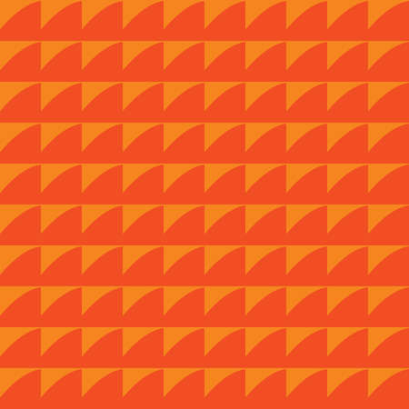 Vector seamless pattern texture background with geometric shapes, colored in orange colors. Vectores