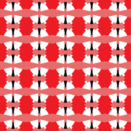 Vector seamless pattern texture background with geometric shapes, colored in red, black and white colors.
