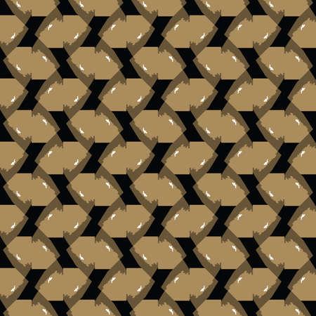 Vector seamless pattern texture background with geometric shapes, colored in black, brown and white colors. Vectores
