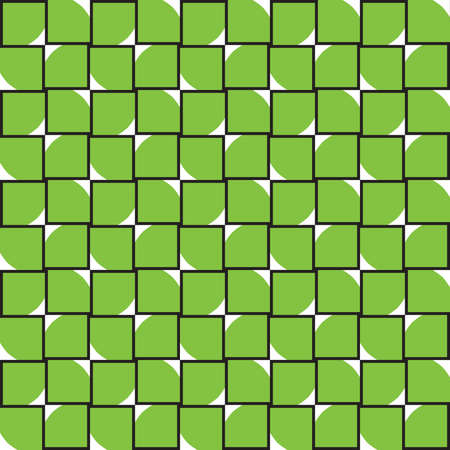 Vector seamless pattern texture background with geometric shapes, colored in green, white and black colors. Vectores