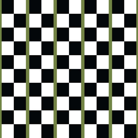 Vector seamless pattern texture background with geometric shapes, colored in black, white and green colors.