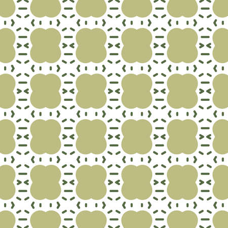 Vector seamless pattern texture background with geometric shapes, colored in green and white colors.