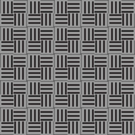 Vector seamless pattern texture background with geometric shapes, colored in black and grey colors.