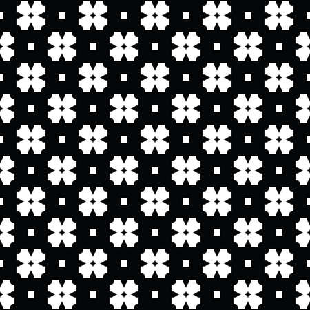 Vector seamless pattern texture background with geometric shapes, colored in black and white colors. Vectores