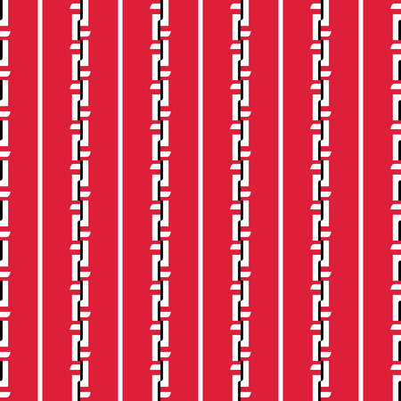 Vector seamless pattern texture background with geometric shapes, colored in red, white and black colors. Vectores