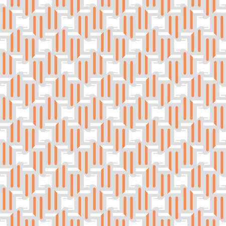 Vector seamless pattern texture background with geometric shapes, colored in orange, grey and white colors. Vectores