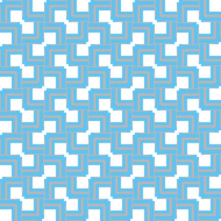 Vector seamless pattern texture background with geometric shapes, colored in blue, grey and white colors.