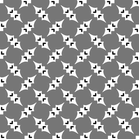 Vector seamless pattern texture background with geometric shapes, colored in grey, black and white colors.