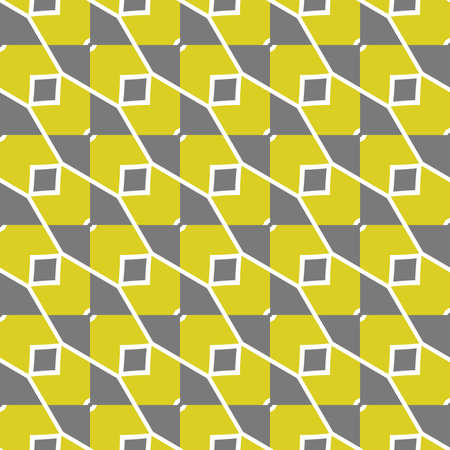 Vector seamless pattern texture background with geometric shapes, colored in green, grey and white colors.