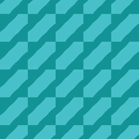 Vector seamless pattern texture background with geometric shapes, colored in green and blue colors. Ilustração