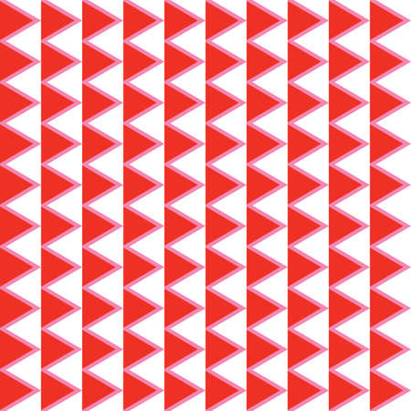 Vector seamless pattern texture background with geometric shapes, colored in red, pink and white colors.