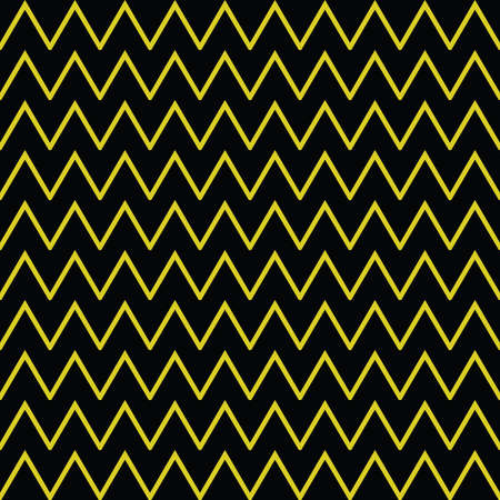 Vector seamless pattern texture background with geometric shapes, colored in yellow and black colors. Ilustração