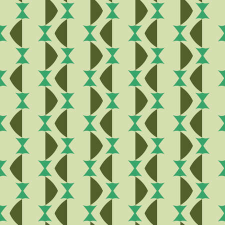 Vector seamless pattern texture background with geometric shapes, colored in green colors.